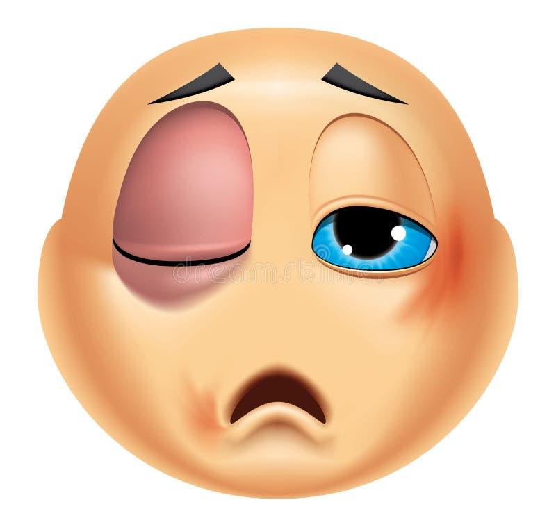 Emoticon ferido ilustração stock