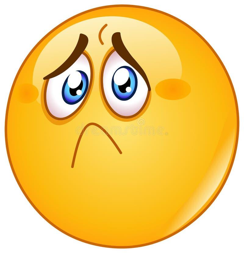 Emoticon ferito e triste royalty illustrazione gratis
