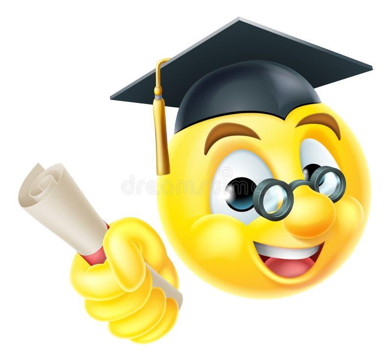emoticon graduado de emoji de la graduaci u00f3n ilustraci u00f3n del vector ilustraci u00f3n de charla vector facelift vector face drawings