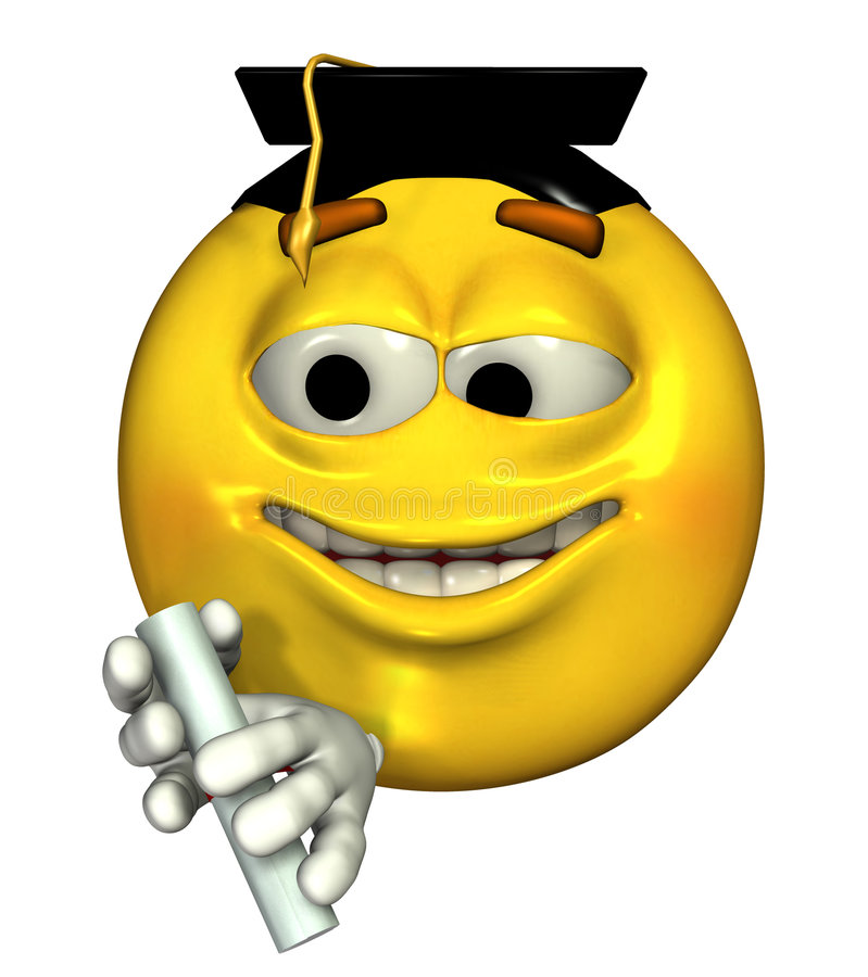 Emoticon Graduate - includes clipping path royalty free illustration