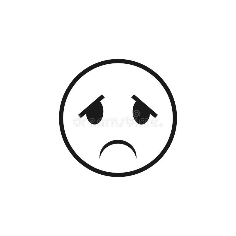 emoticon graficznego projekta szablonu wektoru ilustracja royalty ilustracja