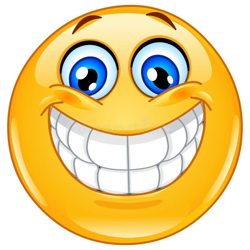 Emoticon grande de la sonrisa ilustración del vector