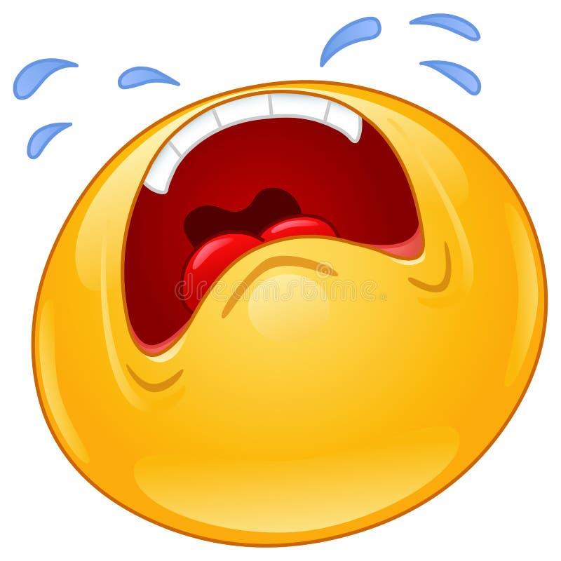 Emoticon gridante illustrazione di stock