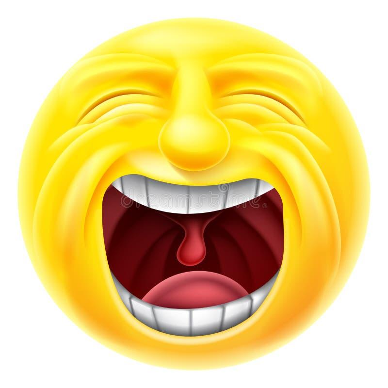 Emoticon gritando Emoji ilustração do vetor