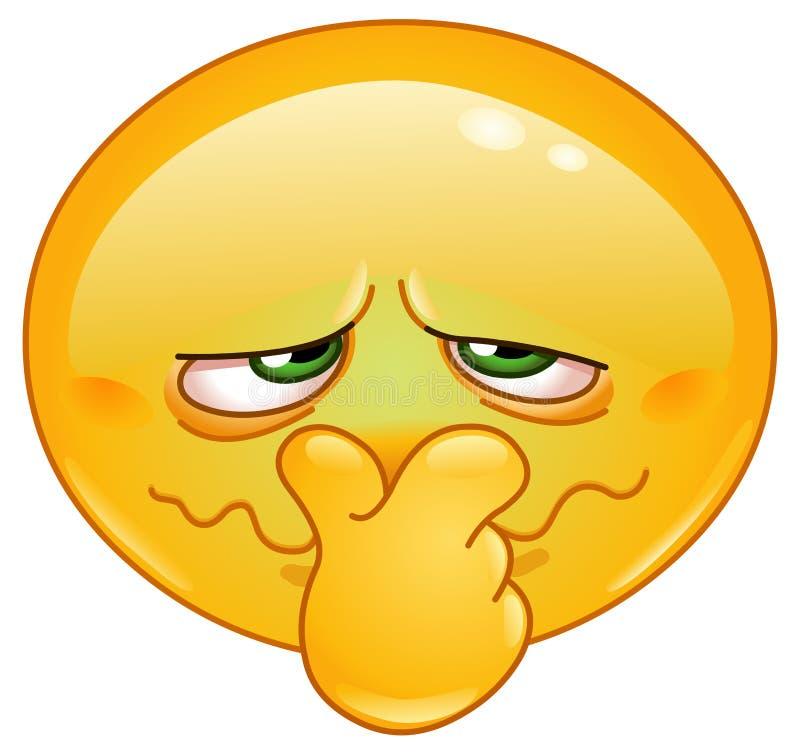 Bad smell emoticon stock illustration