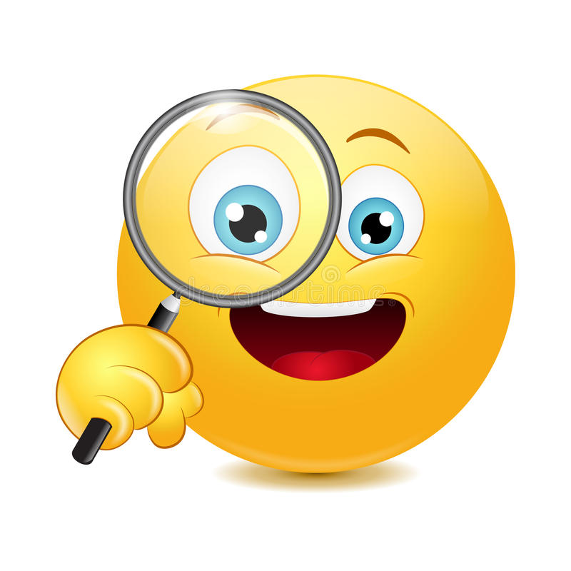 emoticon holding a magnifying glass stock illustration nerd clip art images nerd clip art images
