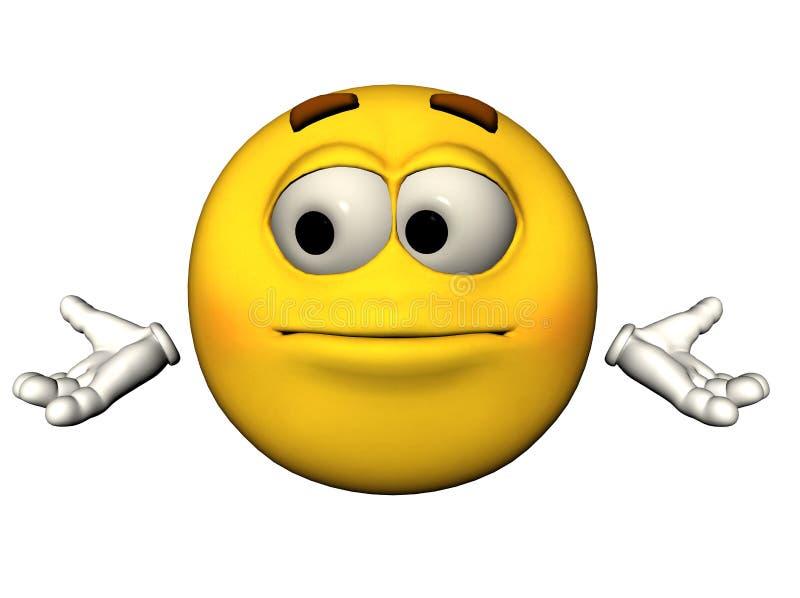 Emoticon impotente illustrazione di stock