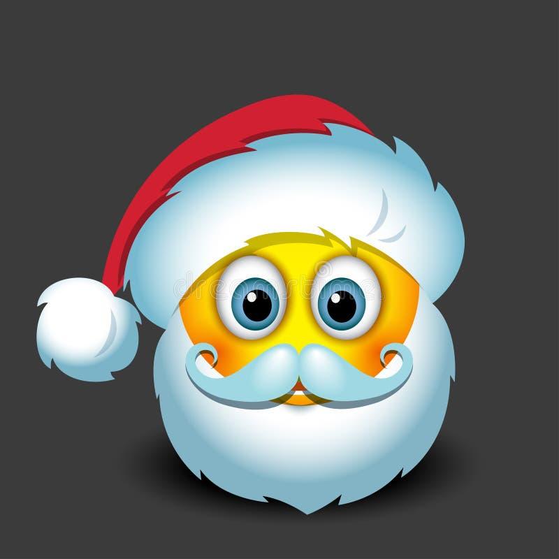 Emoticon lindo de Santa Claus, smiley, emoji - vector el ejemplo stock de ilustración