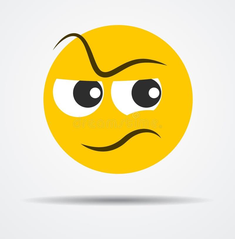 Emoticon loco aislado en un diseño plano libre illustration
