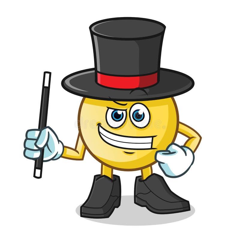 Emoticon magician mascot vector cartoon illustration. This is an original characte vector illustration