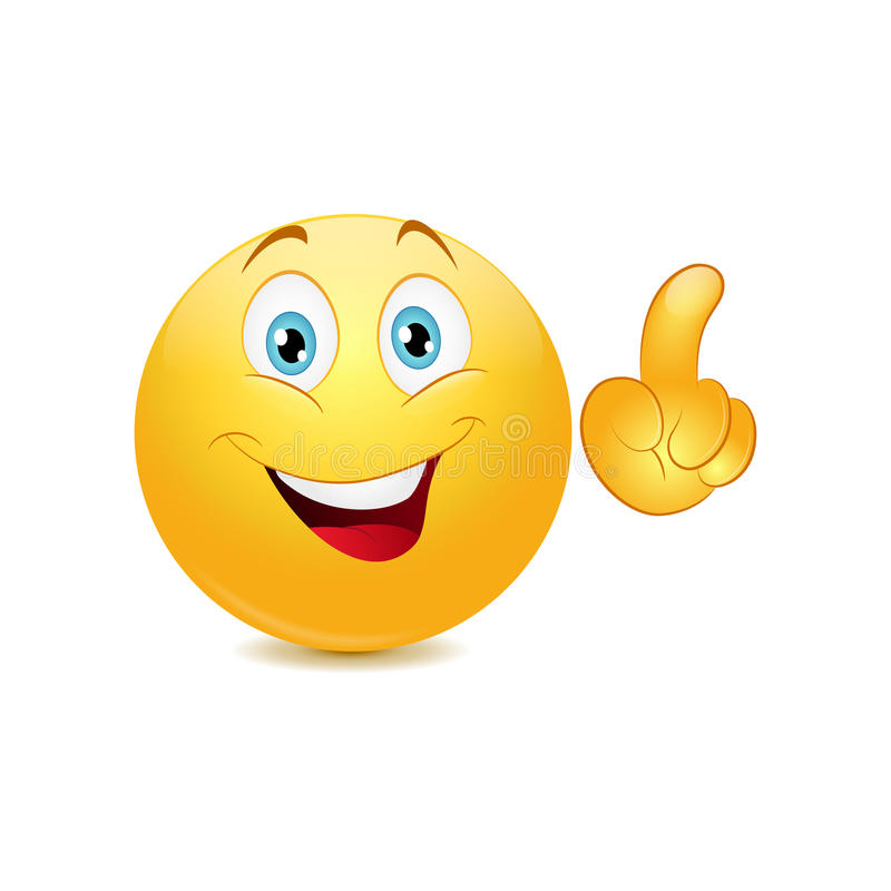 Emoticon making a point stock illustration