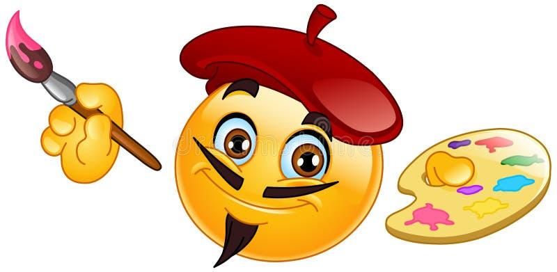 emoticon malarz royalty ilustracja