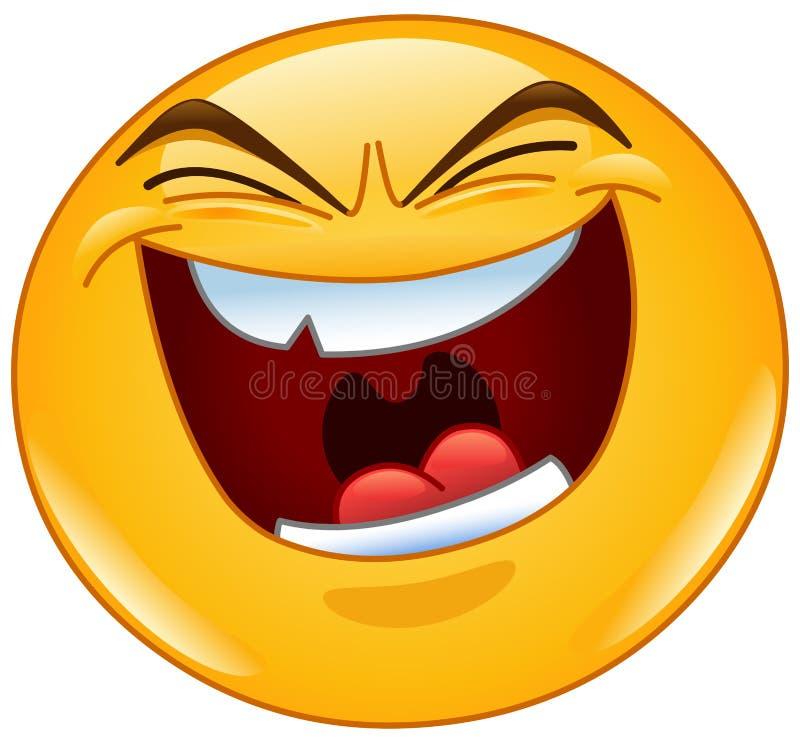 Emoticon mau do riso ilustração do vetor