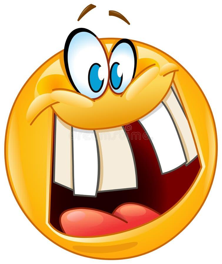 Emoticon pazzo di sorriso illustrazione vettoriale