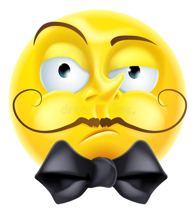 Emoticon presumido de Emoji stock de ilustración