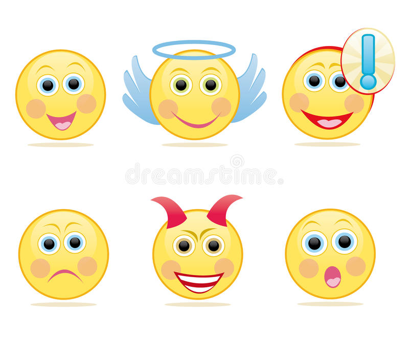 emoticon set royalty ilustracja