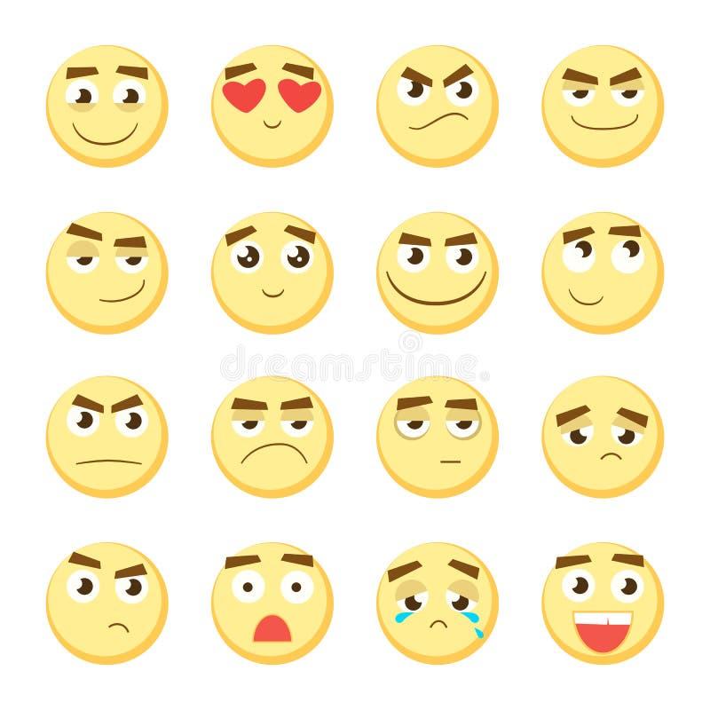 Emoticon set Kolekcja emoji 3d emoticons Smiley twarzy ikony na białym tle wektor ilustracji