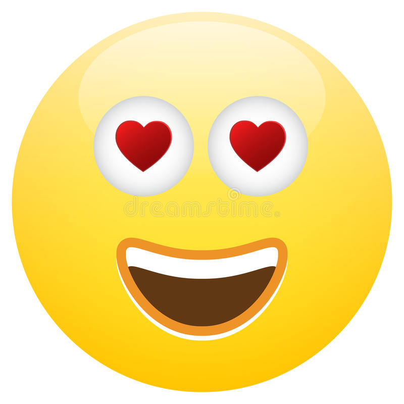 Emoticon Smiley Face Love stock abbildung