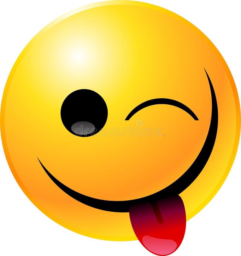 Emoticon-smiley-Gesicht vektor abbildung