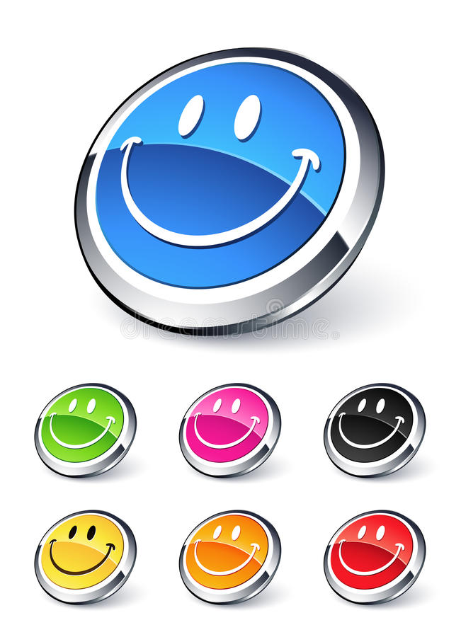 Emoticon smiley icon. Clipart illustration stock illustration