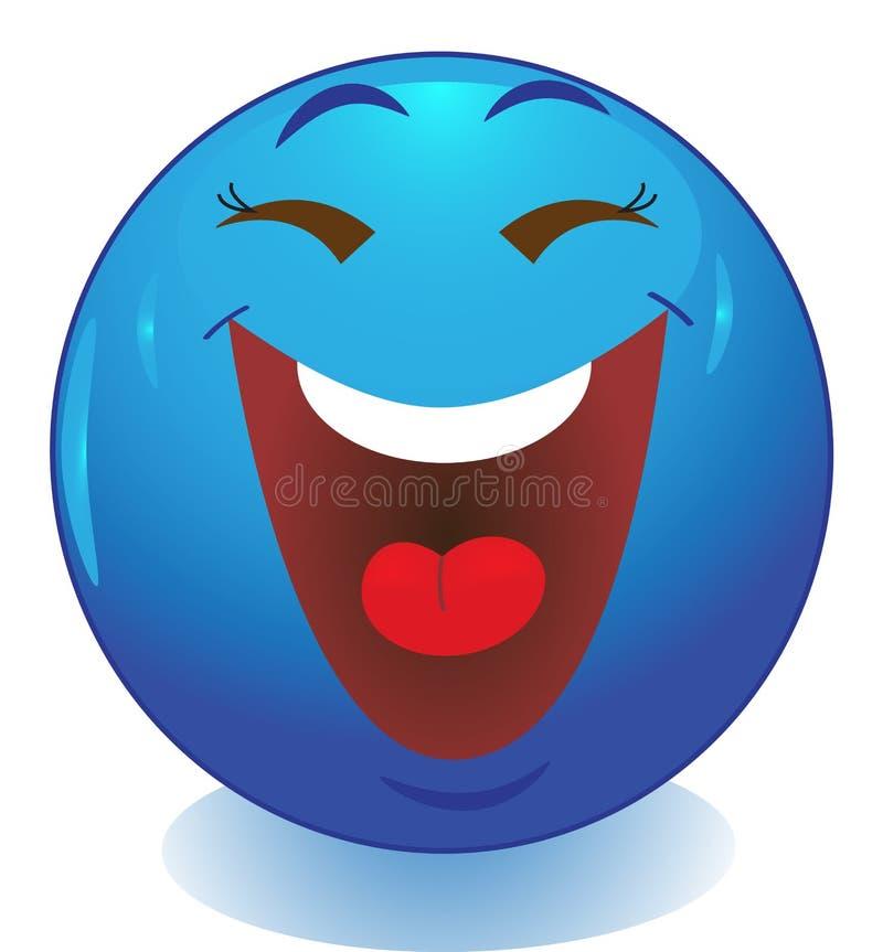 Emoticon sonriente de la cara ilustración del vector