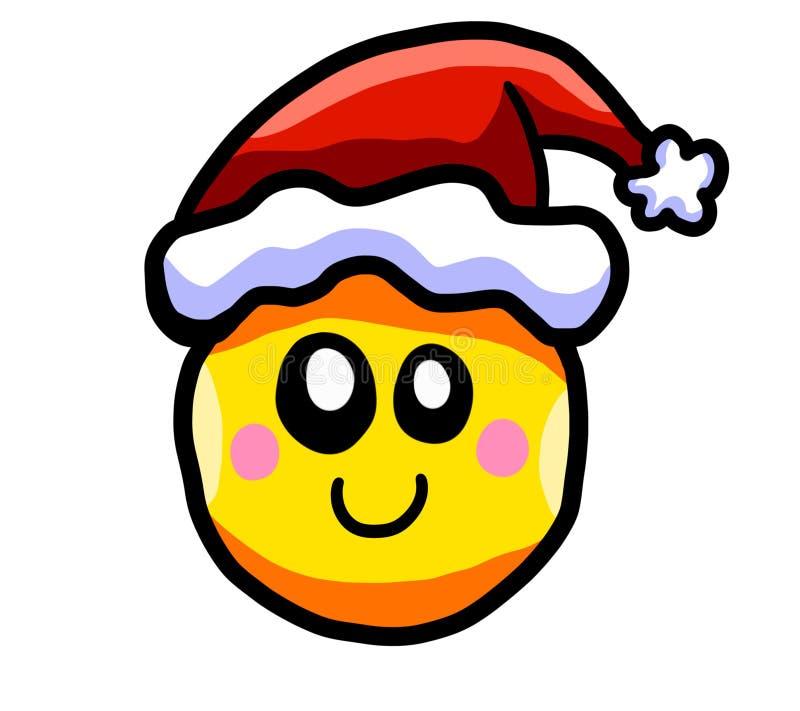 Emoticon sonriente feliz de la Navidad libre illustration
