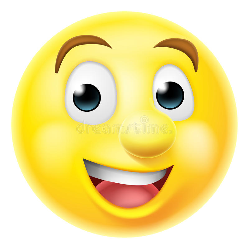 Emoticon sonriente feliz del emoji libre illustration
