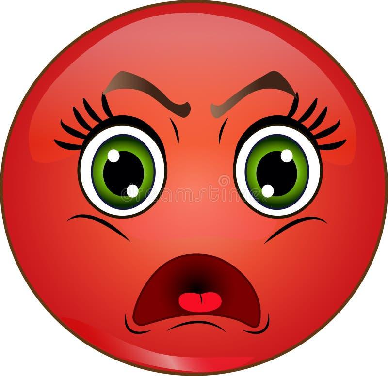 Emoticon sorridente arrabbiato fotografie stock