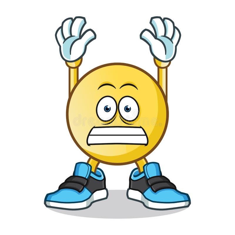 Emoticon surrender mascot vector cartoon illustration. This is an original character royalty free illustration