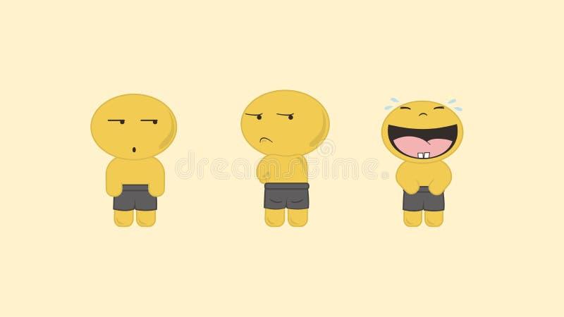 Emoticon sveglio semplice del vettore di Yello immagine stock