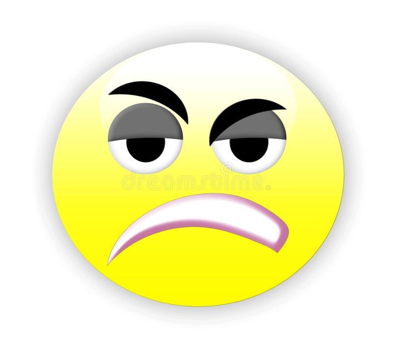 Emoticon triste ilustração do vetor