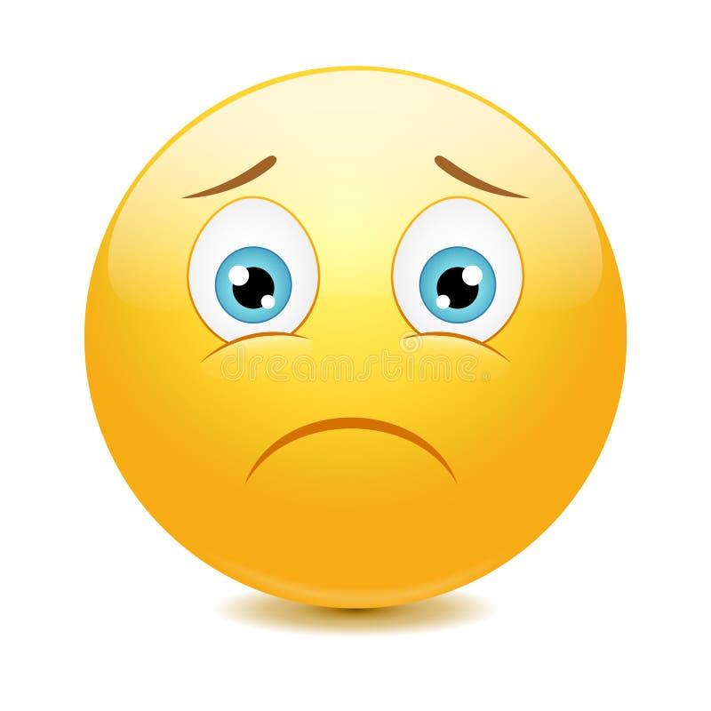 Emoticon triste ilustração royalty free
