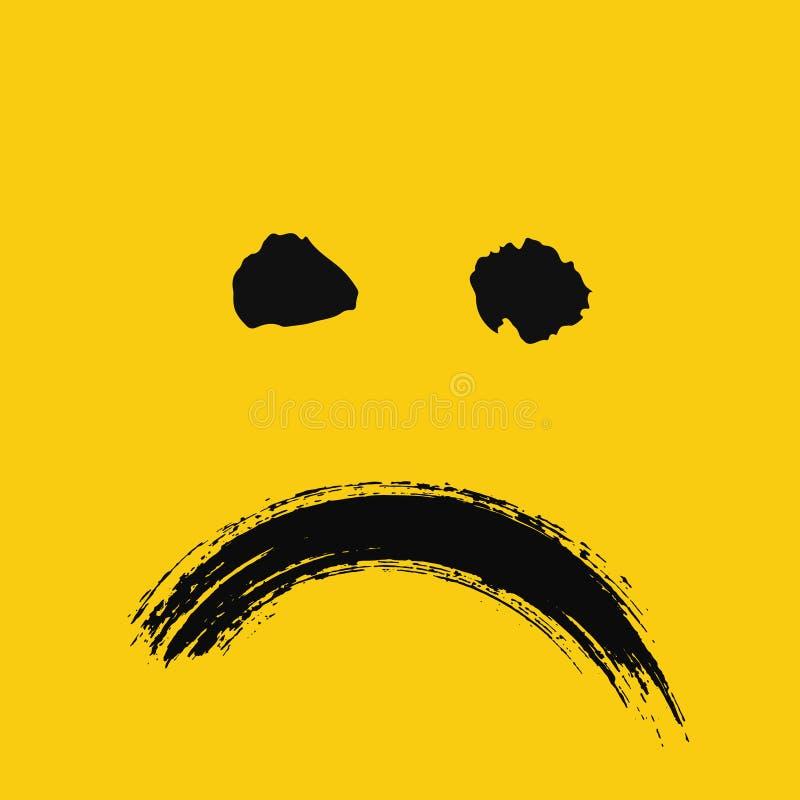 Emoticon triste dipinto royalty illustrazione gratis