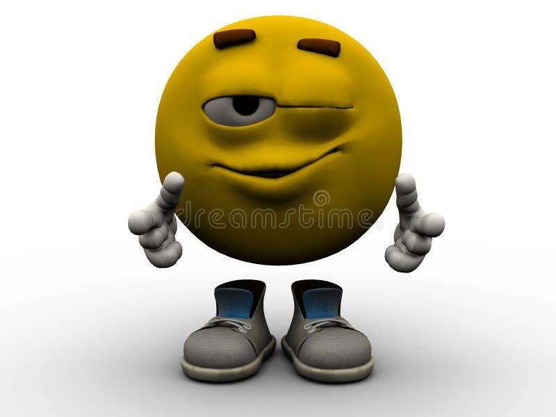 Emoticon - Wink stockfotos