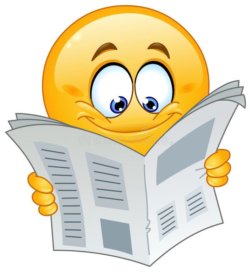 Free Emoticon With Newspaper Stock Photos - 28954013