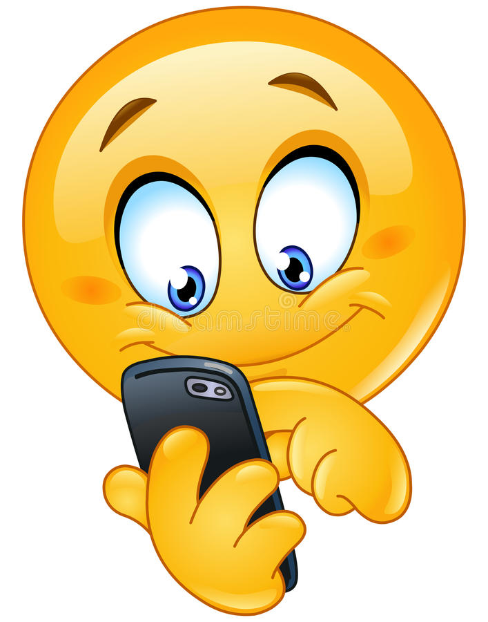Free Emoticon With Smart Phone Royalty Free Stock Photo - 44835105