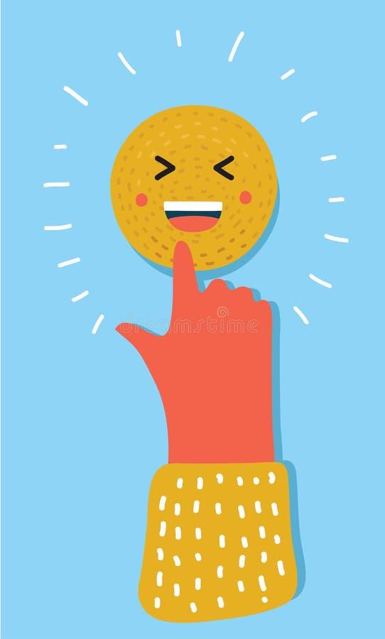 Emoticon wskazuje przy tobą ilustracja wektor