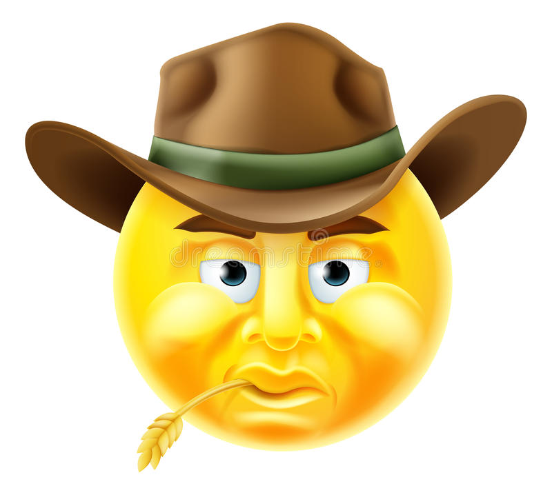 Emoticoncowboy vector illustratie
