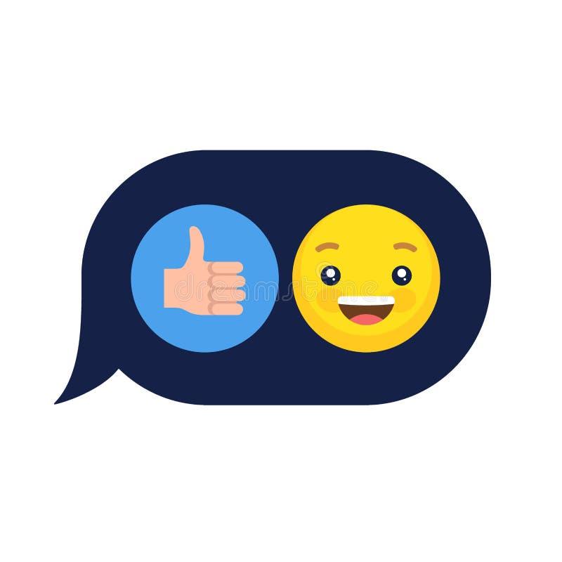 Emoticonen för vektorsinnesrörelseemojien vänder mot symbolsuppsättningen royaltyfri foto