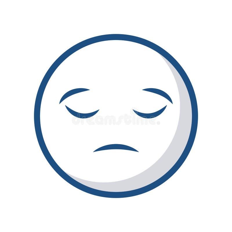 Emoticongesichtsikone lizenzfreie abbildung