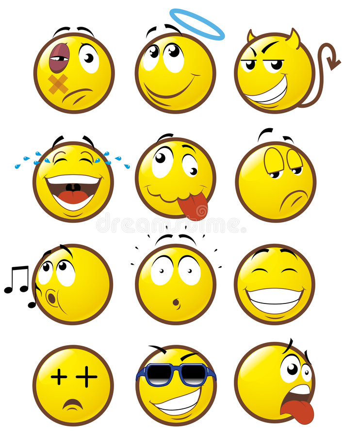 Emoticons 1 stock illustratie