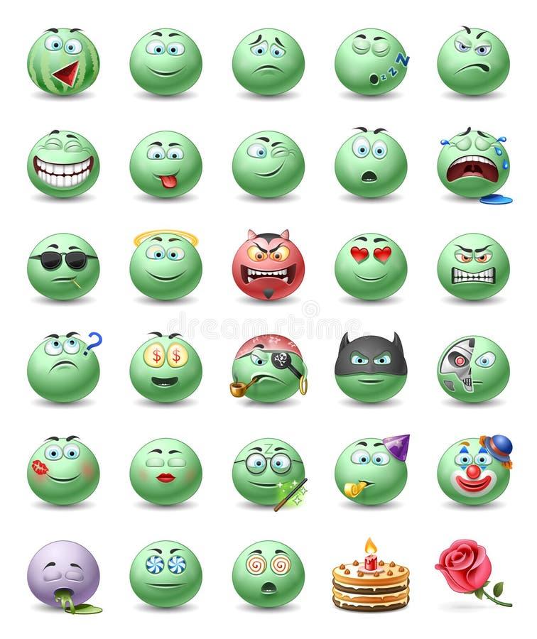 emoticons иллюстрация вектора