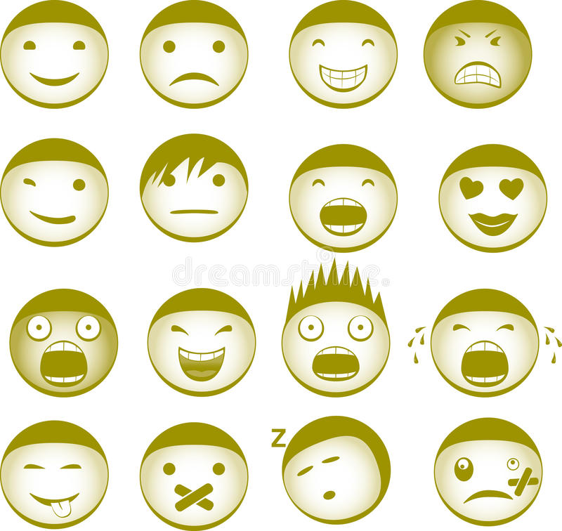 Download Emoticons stock vector. Image of smilies, friendly, feeling - 12946465