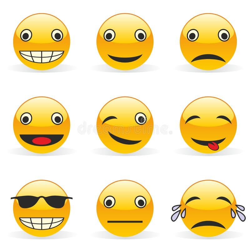 Emoticons stock de ilustración