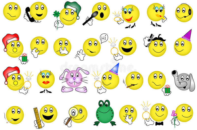 emoticons vektor illustrationer