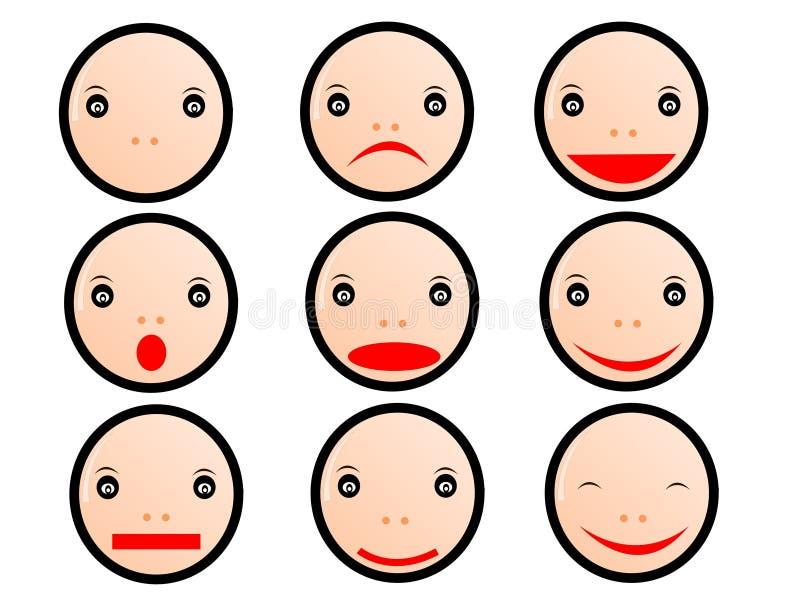 emoticons royalty ilustracja
