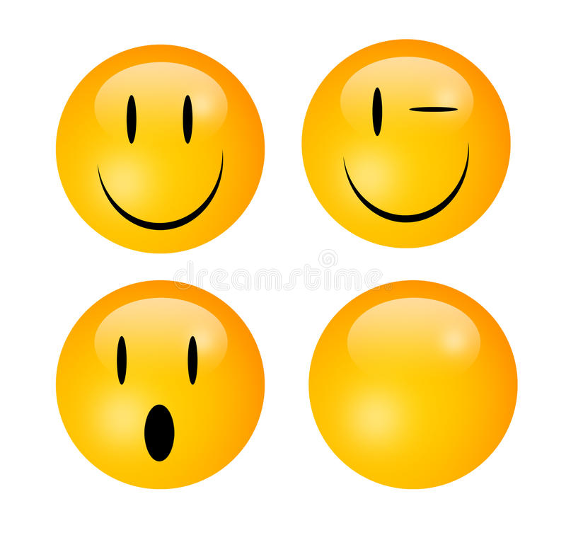 Emoticons royalty-vrije illustratie