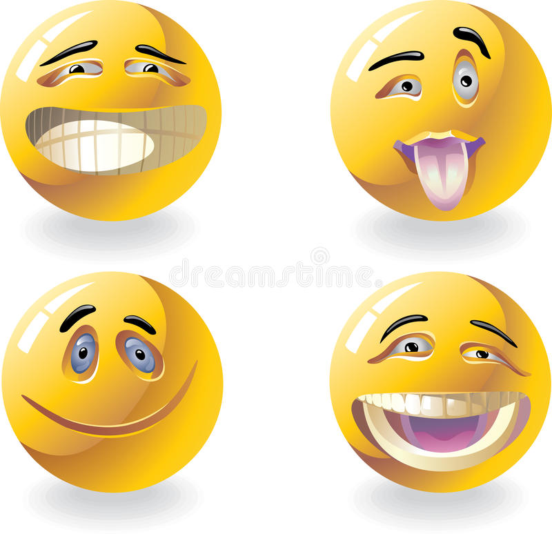 Emoticons stock foto