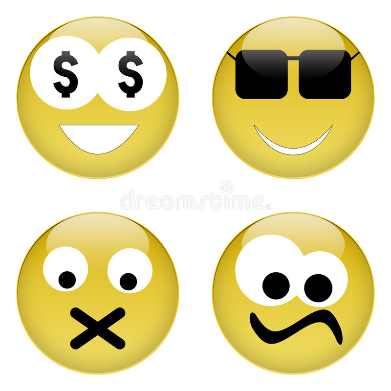 Free Emoticons Royalty Free Stock Image - 254396