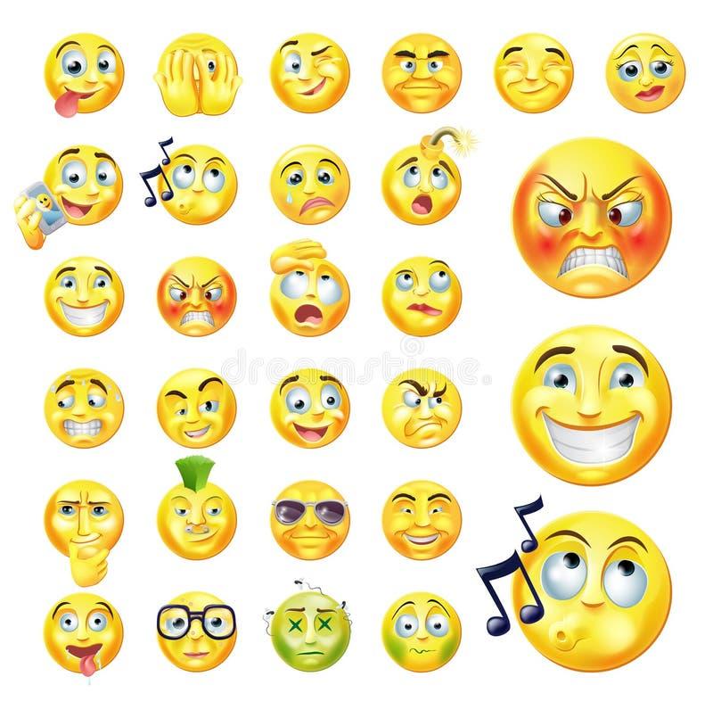 Emoticons royaltyfri illustrationer